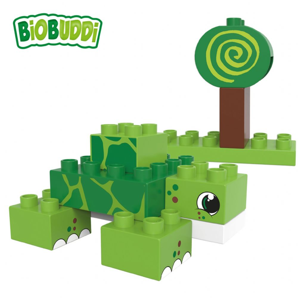 BiOBUDDi - Swamp Turtle/Snail 2 in 1 - 12 Blocks
